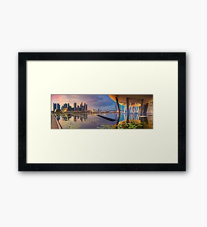 Singapore - Reflections of a City Framed Print