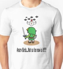 Angry Birds...Not So Fun Now Is It??? Unisex T-Shirt