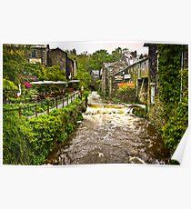 Water flowing at Ambleside, Lake District, UK Poster