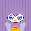 IPhone :: cute owl face - purple by Kat Massard