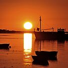 Sunset in Saint-Valery-sur-Somme, North West France by natureloving