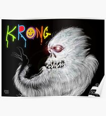 Krong, the Spray-Painting Yeti drawing 1 Poster
