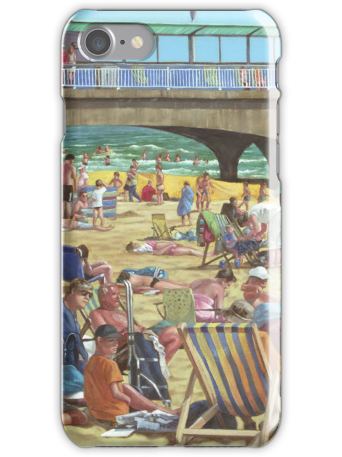 people on bournemouth beach by martyee