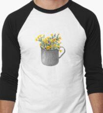 Mug with primulas Men's Baseball ¾ T-Shirt