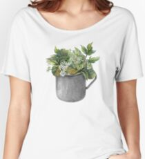Mug with green forest growth Women's Relaxed Fit T-Shirt