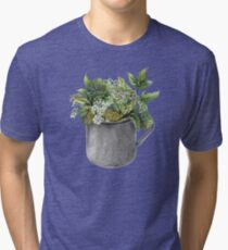 Mug with green forest growth Tri-blend T-Shirt