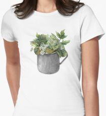 Mug with green forest growth Women's Fitted T-Shirt
