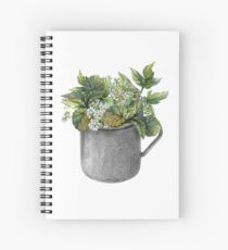 Mug with green forest growth Spiral Notebook