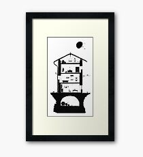Architecture of italian home Framed Print