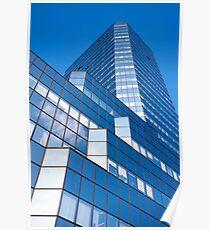 Skyscraper Blue Facade Poster