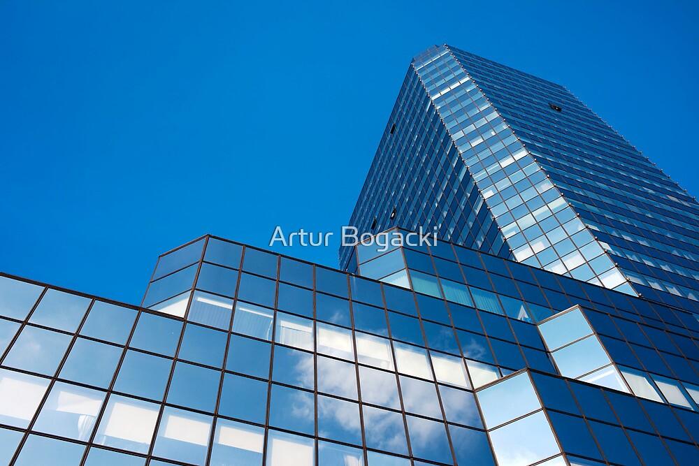 Blue Sky on Office Building Facade by Artur Bogacki