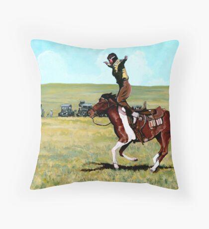 Babette Rides Again Throw Pillow