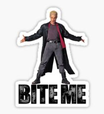 Spike from Buffy - Bite Me Sticker