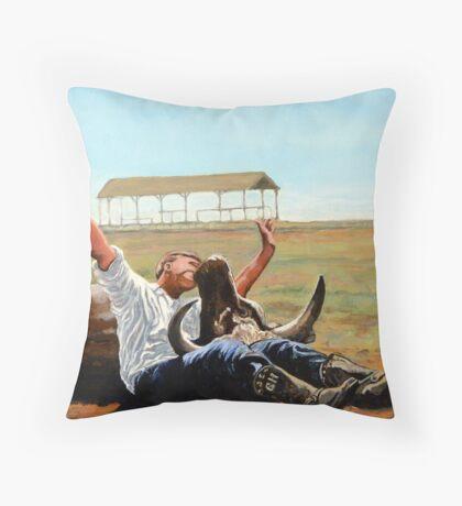 Bucky Get the Bull Throw Pillow