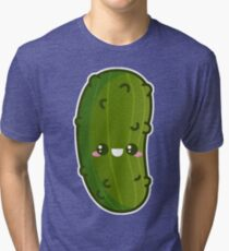 Kawaii Pickle Tri-blend T-Shirt