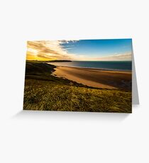 Llangennith in Autumn Greeting Card