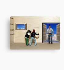 Mr. Cliff!! .. Mr. Cliff! .. Fiskel…over here!!  Why do you think you're getting  that hate mail?? Canvas Print