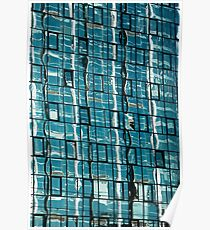 Abstract Reflection on Skyscraper Windows Poster
