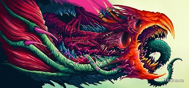 """""""Hyper Beast"""" Stickers By Rednaxa"""
