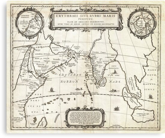 1658 Jansson Map of the Indian Ocean Erythrean Sea in Antiquity Geographicus ErythraeanSea jansson 1658 by MotionAge Media