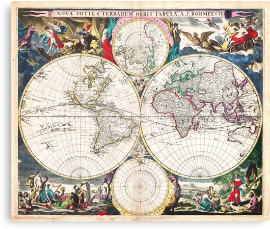 1685 Bormeester Map of the World Geographicus TerrarumOrbis bormeester 1685 by MotionAge Media