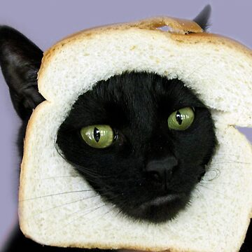 cat with bread by G-apparel