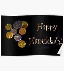 Happy Hanukkah with Chocolate Gelt! Poster