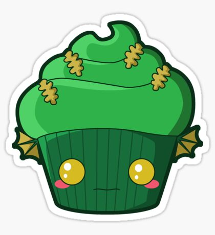 Spooky Cupcake - Swamp Thing Sticker