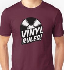 Vinyl Rules! Slim Fit T-Shirt