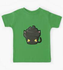 Spooky Cupcake - Black Cat Kids Tee