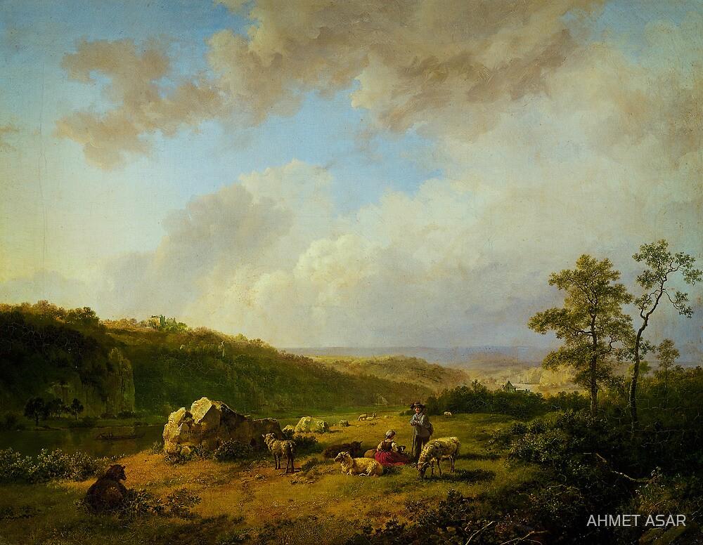 Barend Cornelis Koekkoek Landschap bij opkomende regenbui by MotionAge Media