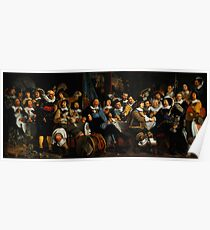 Bartholomeus van der Helst Banquet of the Amsterdam Civic Guard in Celebration of the Peace of Münster Poster