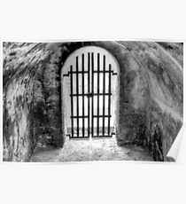Historical Places of Nassau, The Bahamas: The Gate at Fort Montagu Poster