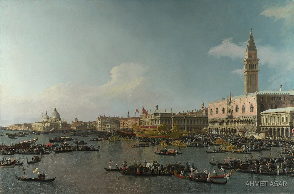 Canaletto    Venice The Basin of San Marco on Ascension Day (c. 1740) by MotionAge Media