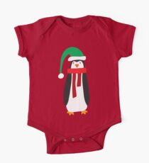 Cute Holiday Penguin Kids Clothes