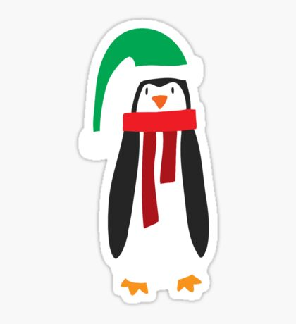 Cute Holiday Penguin Sticker