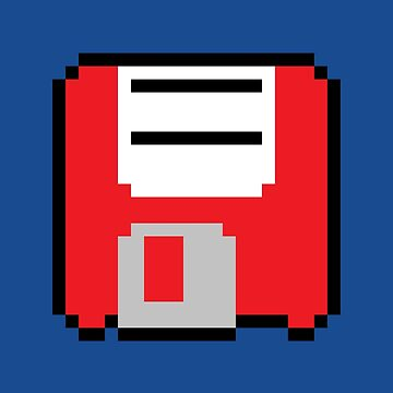 Floppy Disk - Red by pai-thagoras