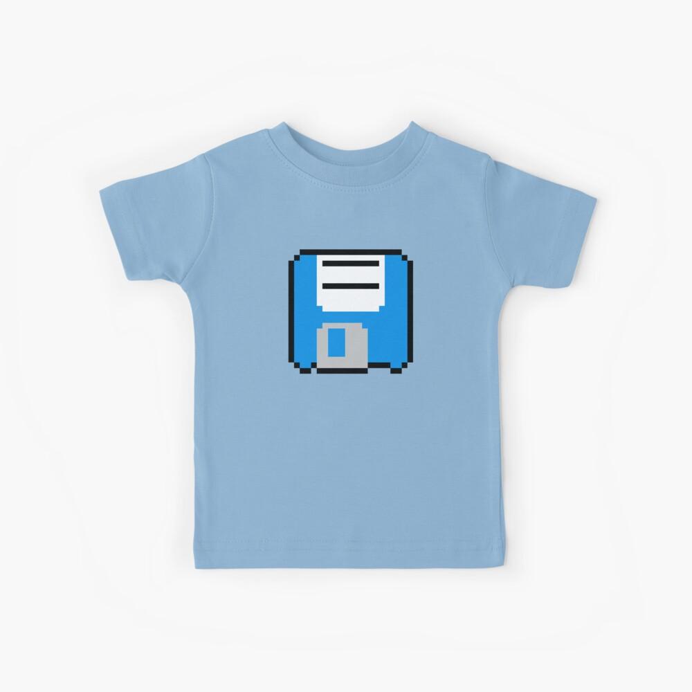 Disquete - Azul Camiseta para niños