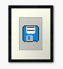 Floppy Disk - Blue Framed Print