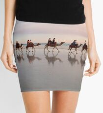 Camel Train at Dusk Mini Skirt