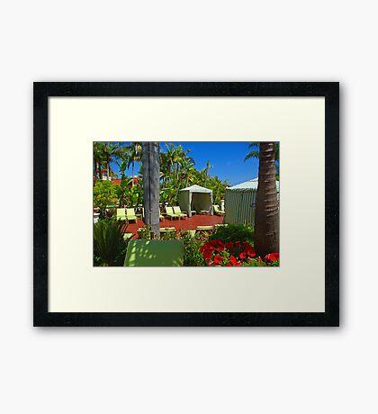 Cabana @ Hyatt Avaria Framed Print