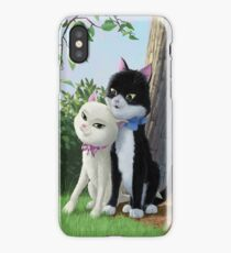 two romantic cats in love iPhone Case/Skin