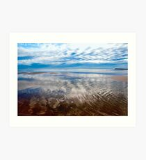 Cloud reflections at low tide Art Print