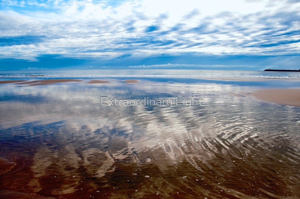 Cloud reflections at low tide by Extraordinary Light