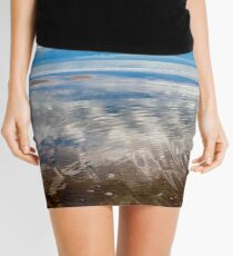 Cloud reflections at low tide Mini Skirt