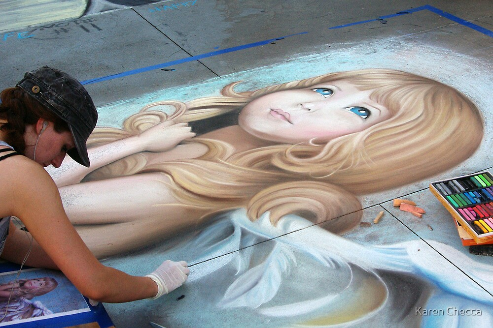20th Anniversary Pasadena Chalk Festival by Karen Checca