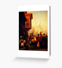 coffee house by the ortaköy mosque in constantinople 1846 Greeting Card