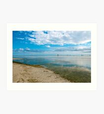 Peaceful anchorage at Tangalooma  Art Print