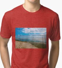Peaceful anchorage at Tangalooma  Tri-blend T-Shirt