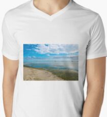 Peaceful anchorage at Tangalooma  Men's V-Neck T-Shirt